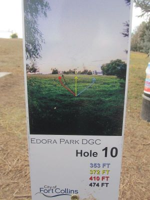 Edora Park, Main course, Hole 10 Hole sign
