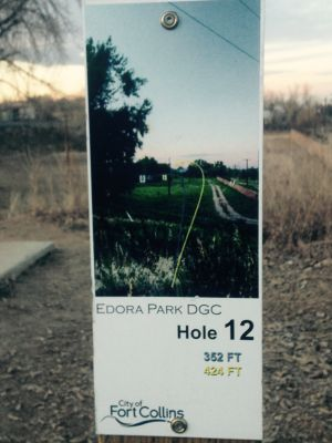 Edora Park, Main course, Hole 12 Long tee pad