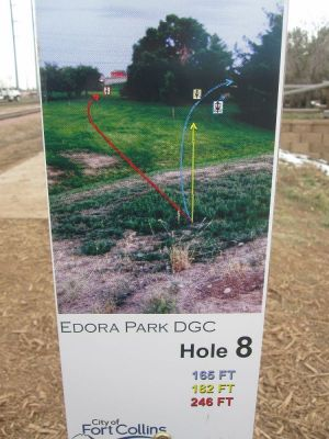 Edora Park, Main course, Hole 8 Hole sign