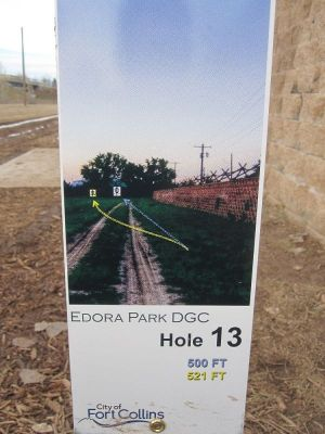 Edora Park, Main course, Hole 13 Hole sign
