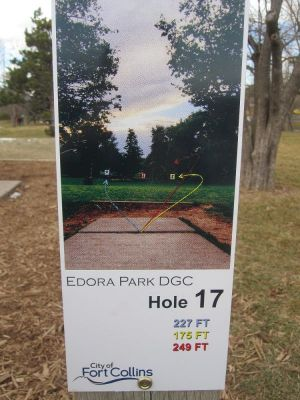 Edora Park, Main course, Hole 17 Hole sign