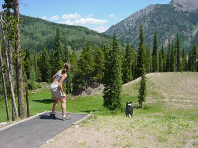 Copper Mountain Resort, Main course, Hole 15 Tee pad