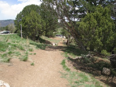 Colorado Mountain College, Glenwood, Main course, Hole 18 Tee pad