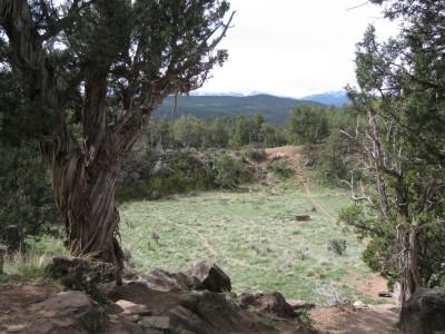Colorado Mountain College, Glenwood, Main course, Hole 2 Tee pad