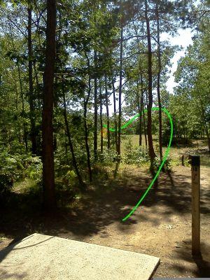 Northend Riverside Park, East course, Hole 18 Long tee pad