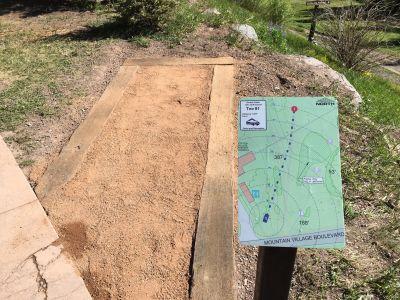 Telluride DGC, Main course, Hole 1 Hole sign