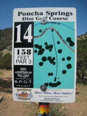 Poncha Springs, Main course, Hole 14 Hole sign