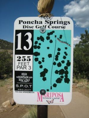 Poncha Springs, Main course, Hole 13 Hole sign