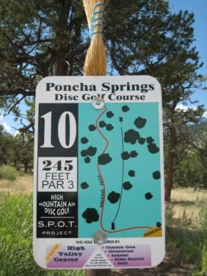 Poncha Springs, Main course, Hole 10 Hole sign