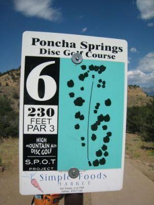 Poncha Springs, Main course, Hole 6 Hole sign