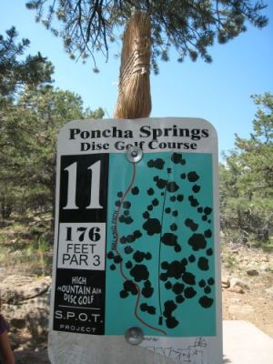 Poncha Springs, Main course, Hole 11 Hole sign