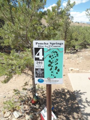 Poncha Springs, Main course, Hole 4 Hole sign