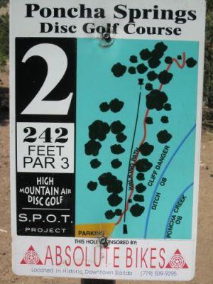 Poncha Springs, Main course, Hole 2 Hole sign