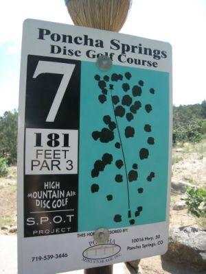 Poncha Springs, Main course, Hole 7 Hole sign