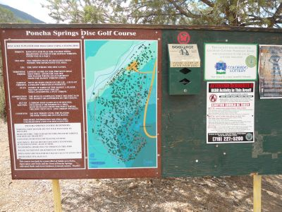 Poncha Springs, Main course, Hole 1 Hole sign
