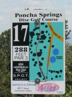 Poncha Springs, Main course, Hole 17 Hole sign