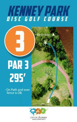 Kenney Park, Main course, Hole 3 Course sign