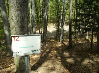 Boyne Mountain, Main course, Hole 12 Tee pad