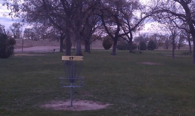 Pioneer Park DGC, Main course, Hole 17 Reverse (back up the fairway)