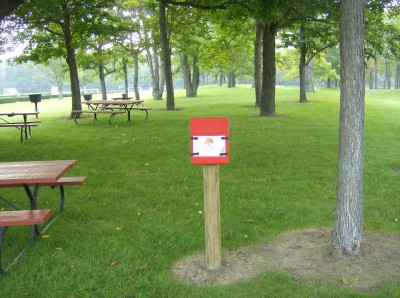 Lake Township Park, Main course, Hole 1 Hole sign