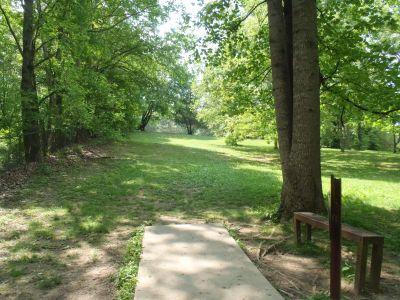 Cane Creek Park, Main course, Hole 14 Tee pad
