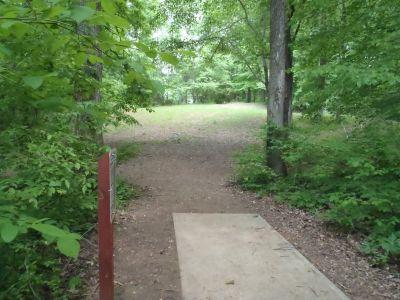 Cane Creek Park, Main course, Hole 17 Tee pad