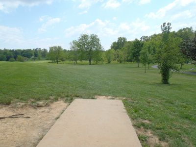 Cane Creek Park, Main course, Hole 9 Tee pad