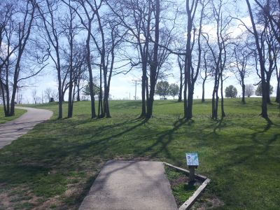 Triple Creek Park, Main course, Hole 9 Tee pad
