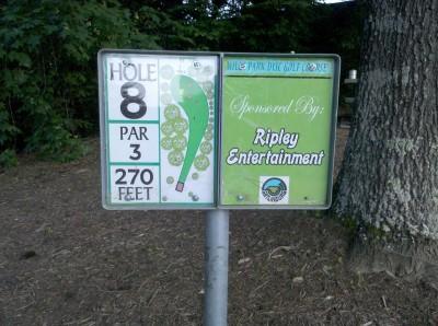 Mills Park, Main course, Hole 8