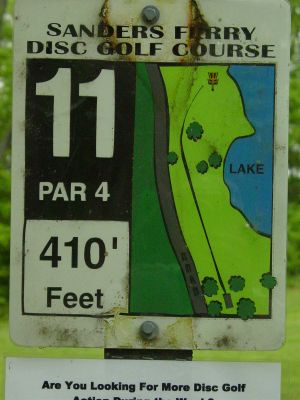 Sanders Ferry Park, Main course, Hole 11 Hole sign