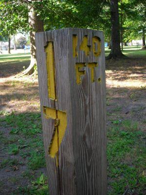 Borden Park, Main course, Hole 17 Hole sign