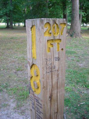 Borden Park, Main course, Hole 18 Hole sign
