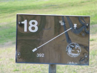 Warriors Path State Park, Main course, Hole 18 Hole sign