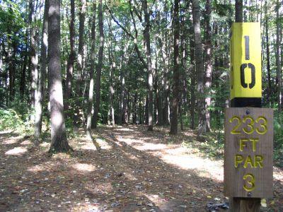 Kenwood Heritage Park, Main course, Hole 10 Tee pad
