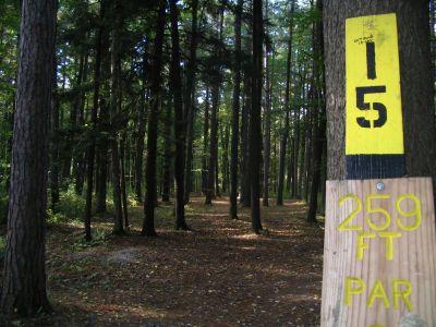 Kenwood Heritage Park, Main course, Hole 15 Tee pad