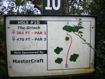 Victor Ashe Park, Main course, Hole 10 Hole sign