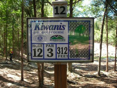Morristown Kiwanis DGC, Main course, Hole 12 Hole sign