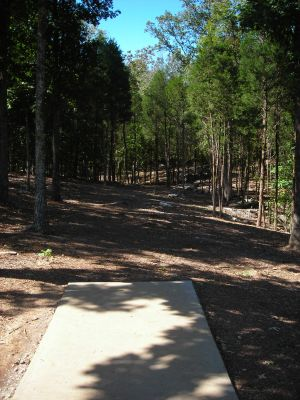 Morristown Kiwanis DGC, Main course, Hole 10 Tee pad