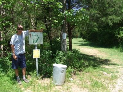 Cedar Hill Park, Main course, Hole 1 Tee pad