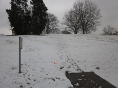 Two Rivers Park, Main course, Hole 15 Tee pad