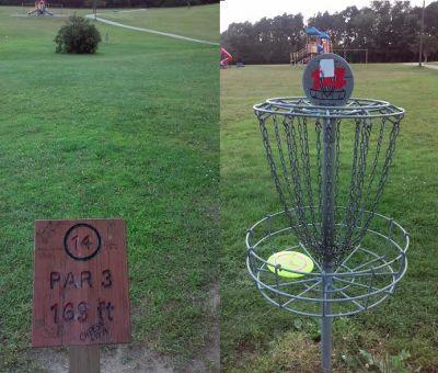 Cascade Township Park, Main course, Hole 14 Tee pad