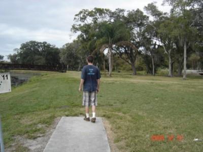 Cliff Stephens Park, Main course, Hole 11 Tee pad