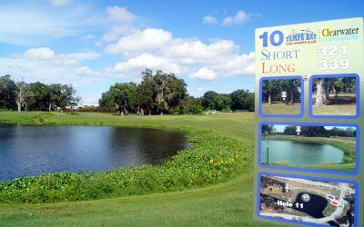 Cliff Stephens Park, Main course, Hole 10 Hole sign