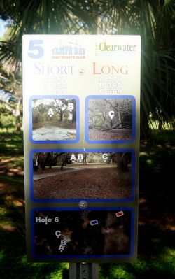 Cliff Stephens Park, Main course, Hole 5 Hole sign