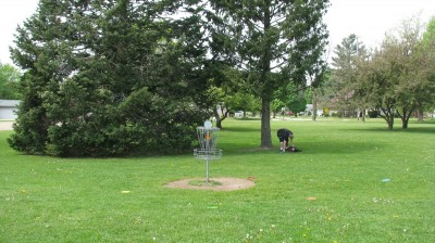 Lincoln Park, Main course, Hole 3 Reverse (back up the fairway)