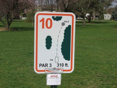 Lincoln Park, Main course, Hole 10 Alternate pin