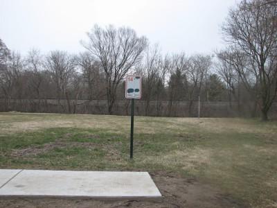 Lincoln Park, Main course, Hole 14 Hole sign