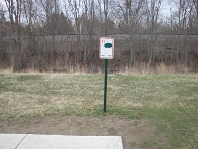 Lincoln Park, Main course, Hole 17 Hole sign