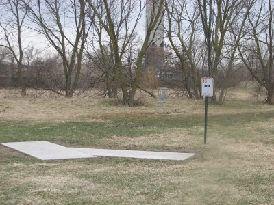 Lincoln Park, Main course, Hole 16 Hole sign
