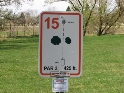 Lincoln Park, Main course, Hole 16 Alternate pin